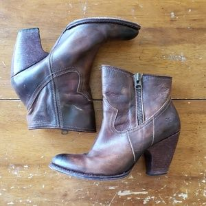FRYE leather booties